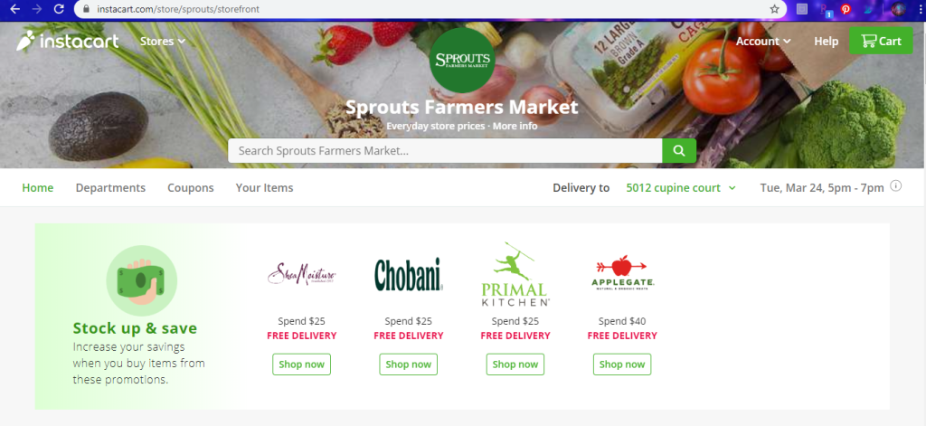 Sprouts storefront